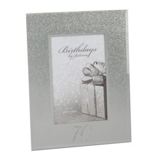 "4"" x 6"" - Birthdays by Juliana Glitter Mirror Frame - 70th Product Image"