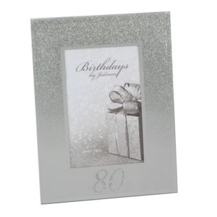 "4"" x 6"" - Birthdays by Juliana Glitter Mirror Frame - 80th Product Image"