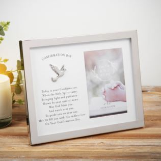 "4"" x 6"" - Faith & Hope Silver Plated Confirmation Day Frame Product Image"