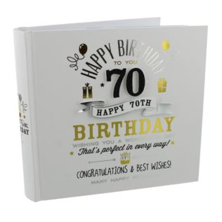 Signography 70th Birthday Photo Album Product Image