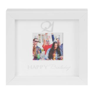 "3"" x 3"" - Happy Birthday Box Photo Frame - 21st Product Image"