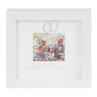 "3"" x 3"" - Happy Birthday Box Photo Frame - 60th Product Image"