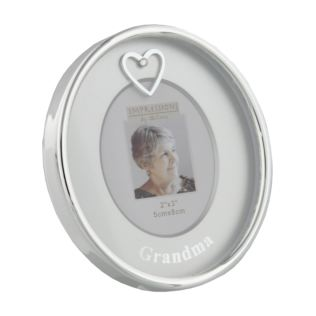 "2"" x 3"" - Silver Plated Oval Frame - Grandma Product Image"