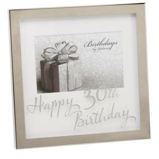 "6"" x 4"" - Birthdays by Juliana Silverplated Box Frame - 30th Product Image"
