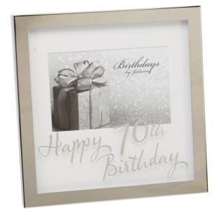 "6"" x 4"" - Birthdays by Juliana Silverplated Box Frame - 70th Product Image"