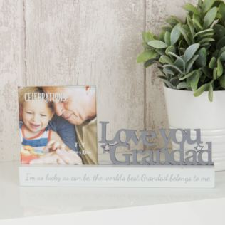 "4"" x 4"" - Celebrations Photo Frame - Love You Grandad Product Image"
