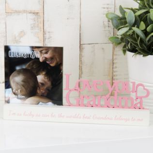 "4"" x 4"" - Celebrations Photo Frame - Love You Grandma Product Image"