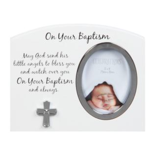 "3"" x 4"" - Celebrations On Your Baptism Photo Frame Product Image"