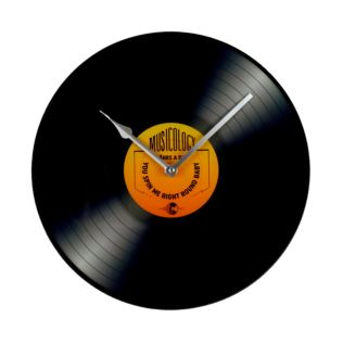 Musicology Glass Wall Clock 30cm - Record Product Image