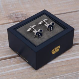 Harvey Makin Blue Shirt 'Dad' Cufflinks Product Image