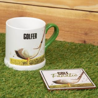 Armchair Supporters Society Mug & Coaster Gift Set - Golf Product Image