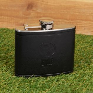 Armchair Supporters Society Faux Leather Hip Flask - Golf Product Image