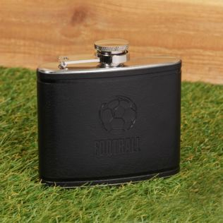 Armchair Supporter Society Faux Leather Hip Flask - Football Product Image