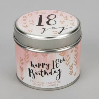 Luxe Candle in a Tin - 18th Birthday Product Image