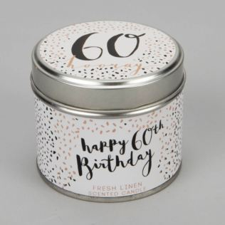 Luxe Candle in a Tin - 60th Birthday Product Image