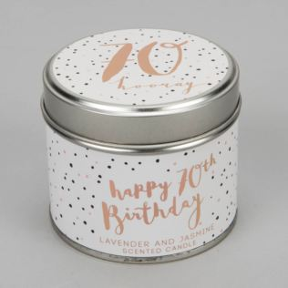 Luxe Candle in a Tin - 70th Birthday Product Image