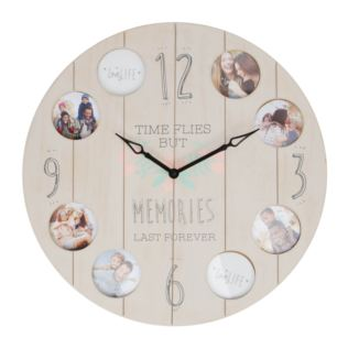 Love Life Photoframe Clock - Memories Last Forever Product Image