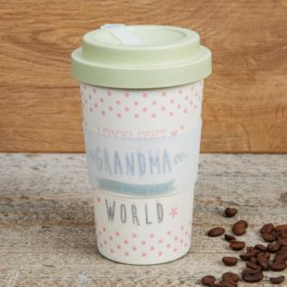 Love Life Bamboo Travel Mug 400ml - Loveliest Grandma Product Image