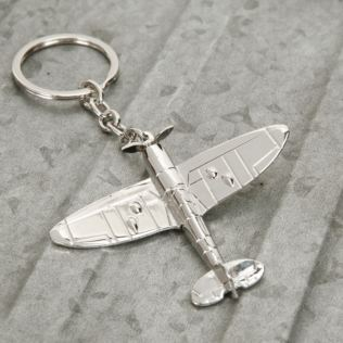 Military Heritage Silver Plated Keyring - Spitfire Product Image