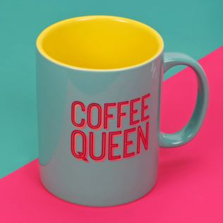 Neon Pop Mug with Holographic Foil - Coffee Queen Product Image