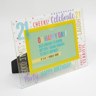 "6"" x 4"" - Oh Happy Day! Glass Photo Frame - 21 Product Image"