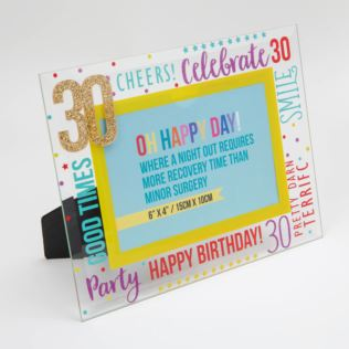 "6"" x 4"" - Oh Happy Day! Glass Photo Frame - 30 Product Image"