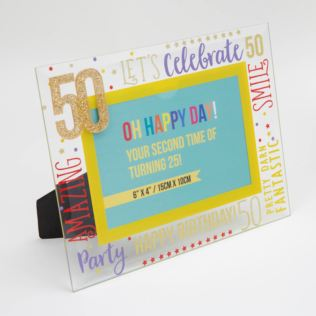 "6"" x 4"" - Oh Happy Day! Glass Photo Frame - 50 Product Image"
