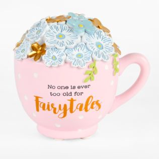 Vintage Boutique Resin Money Bank - Tea Cup Product Image