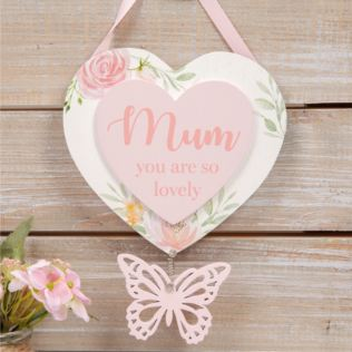 Sophia Heart Hanging Plaque - Mum Product Image