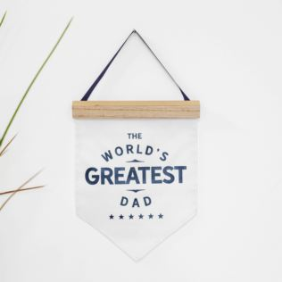 World's Greatest Dad Hanging Canvas Flag Product Image