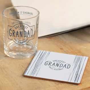 Greatest Grandad Ever Whisky Glass & Coaster Gift Set Product Image