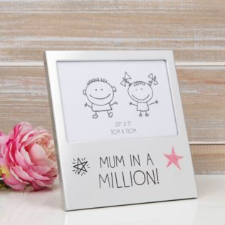 "5"" x 3.5"" - Aluminium Photo Frame - Mum In A Million Product Image"