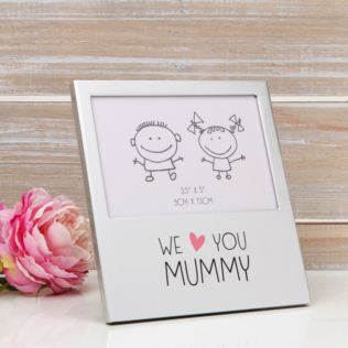 "5"" x 3.5"" - Aluminium Photo Frame - We Love You Mummy Product Image"