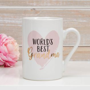 World's Best Grandma Stoneware Mug with Gold Foil Product Image