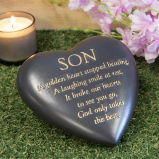 Thought Of You Graveside Dark Grey Heart Memorial - Son Product Image