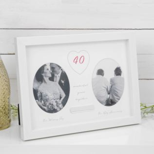 AMORE BY JULIANA® 40th Anniversary Frame - Engraving Plate Product Image