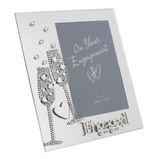 "4"" x 6"" - Engagement Glass Photo Frame Product Image"