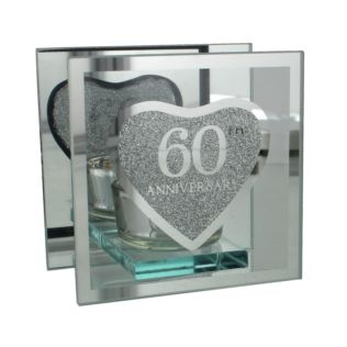 Glass Tealight Holder - 60th Anniversary Product Image