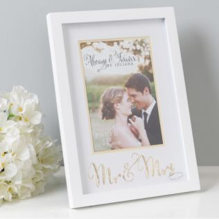 "5"" x 7"" - Always & Forever Photo Frame - Mr & Mrs Product Image"