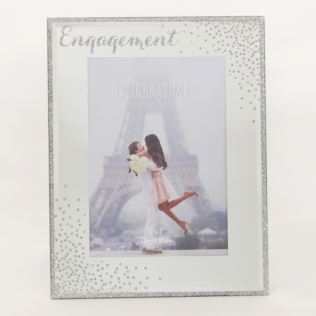 "5"" x 7"" - Celebrations Glass Sparkle Frame - Engagement Product Image"