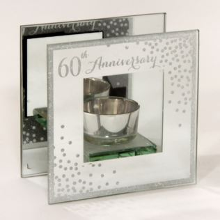 Celebrations Sparkle Tealight Holder - 60th Anniversary Product Image