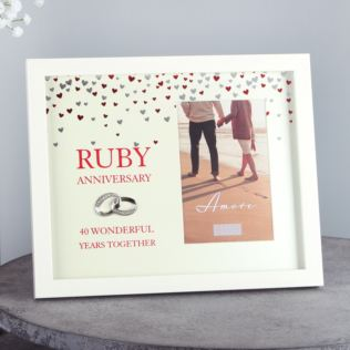 "4"" x 6"" - AMORE BY JULIANA® Frame - Ruby Anniversary Product Image"