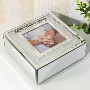 Celebrations Crystal Border Trinket Box - 60th Anniversary Product Image