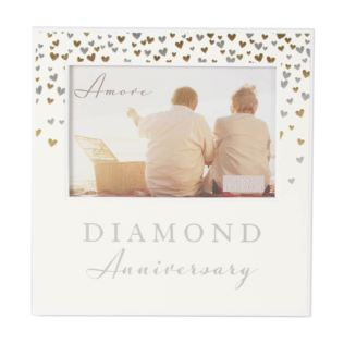 "6"" x 4"" - AMORE BY JULIANA® Photo Frame Diamond Anniversary Product Image"