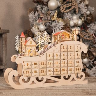 Light Up Christmas Village Sleigh Advent Calenda Product Image