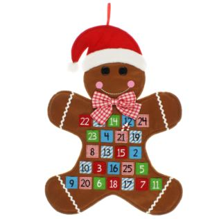 Wall Hanging Advent Calendar - Gingerbread Man Product Image