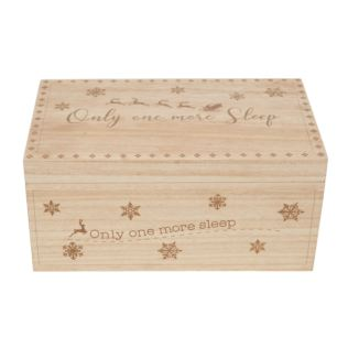 Light Wood Personalisable Christmas Eve Box Product Image