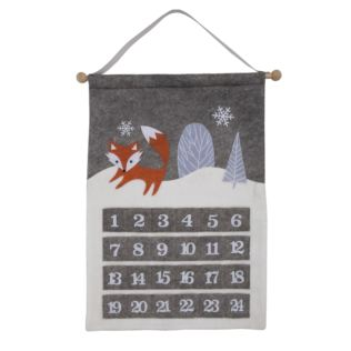 Wall Hanging Advent Calendar - Fox Product Image