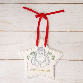 Disney Baby's First Christmas Hanging Plaque - Eeyore Product Image