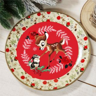 Disney Bambi Enchanted Forest Set of 4 Dinner Plates Product Image